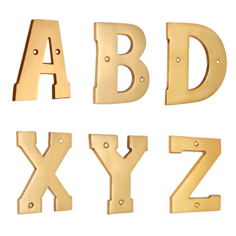 4quotquot brass letters a z polish lacquered With 4 brass letters