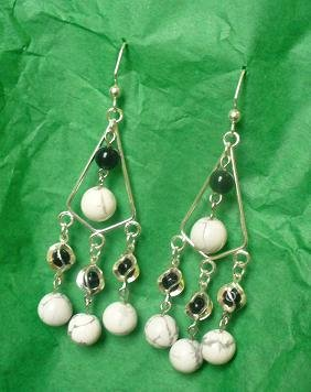 Howlite at the Moon