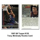 Tracy McGrady RC Topps 1997-1998 #125