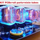 Nixie Tube clock KIT with IN-12 Tube LED Blue Backlight Black PCB