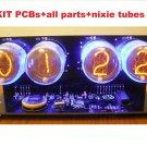 Nixie Tube clock KIT with IN-4 Tube LED Blue Backlight Black PCB