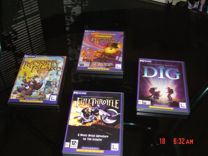 THE DIG + FULL THROTTLE+ MONKEY ISLAND 3 + 4