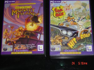 The Curse Of Monkey Island + Sam and Max hit the Road