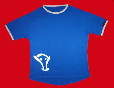 STOCK#12 [L] BLUE VOODOO T-SHIRT SHORT SLEEVE