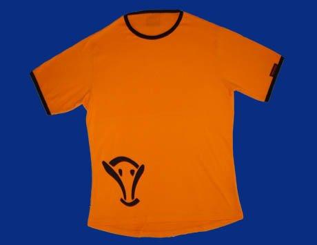STOCK#11 [XL] ORANGE VOODOO T-SHIRT SHORT SLEEVE