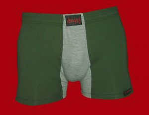 STOCK#7 [M] BOXER NORMAL RISE - VOODOO FIRE - KHAKI/GREY, FITTED