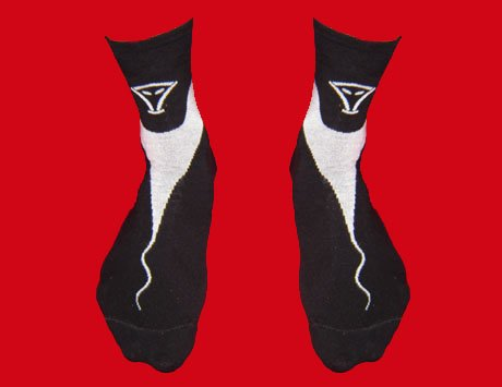 STOCK#19 [XL] 4 PACK VOODOO SOCKS - BLACK/WHITE, REGULAR