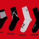 STOCK#18,19,20,21 [L] VARIETY 4 PACK  VOODOO SOCKS - KHAKI/WHITE, SHORT, REGULAR