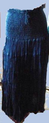 Sacred Threads Indigo Rayon 5-Tier Long Skirt S, M, L & XL