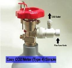 Brass Manual CO2 Regulator