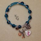 CHRISSY'S HOPE bracelet Teal with Peach Angel