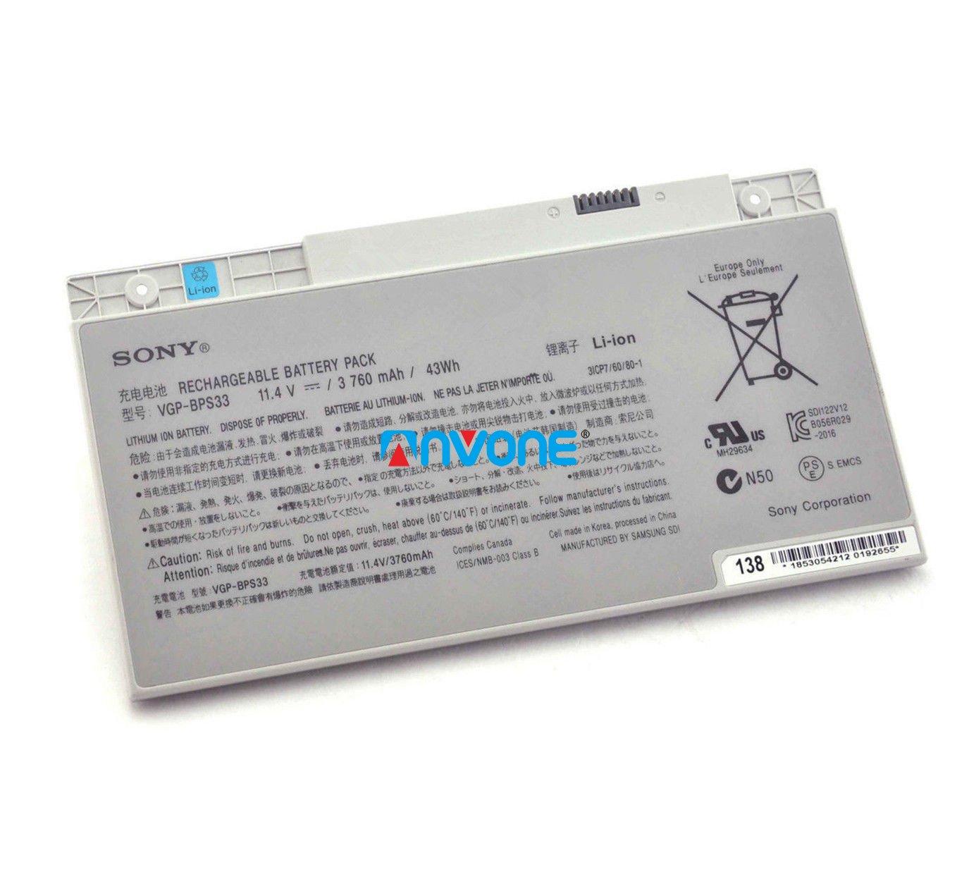 VGP-BPS33 Battery For Sony Vaio SVT-14 SVT-15 Vaio T14 T15