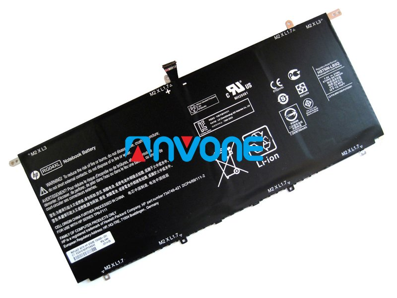 734998-001 Battery HSTNN-DB5Q 734746-221 TPN-F111 RG04051XL For HP Spectre 13-3000