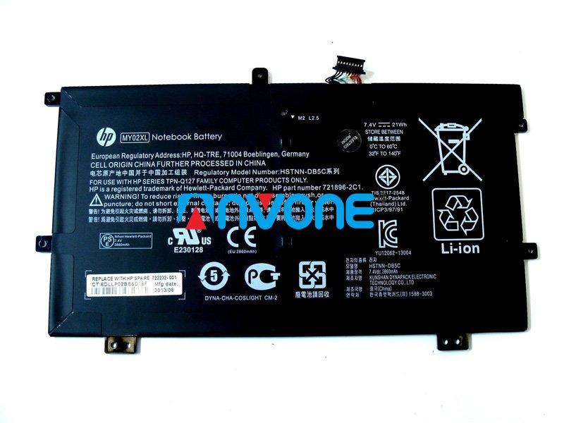 722232-001 Battery HSTNN-IB5C HSTNN-LB5C 721896-421 MY02021XL For HP SlateBook X2 10-H000SA
