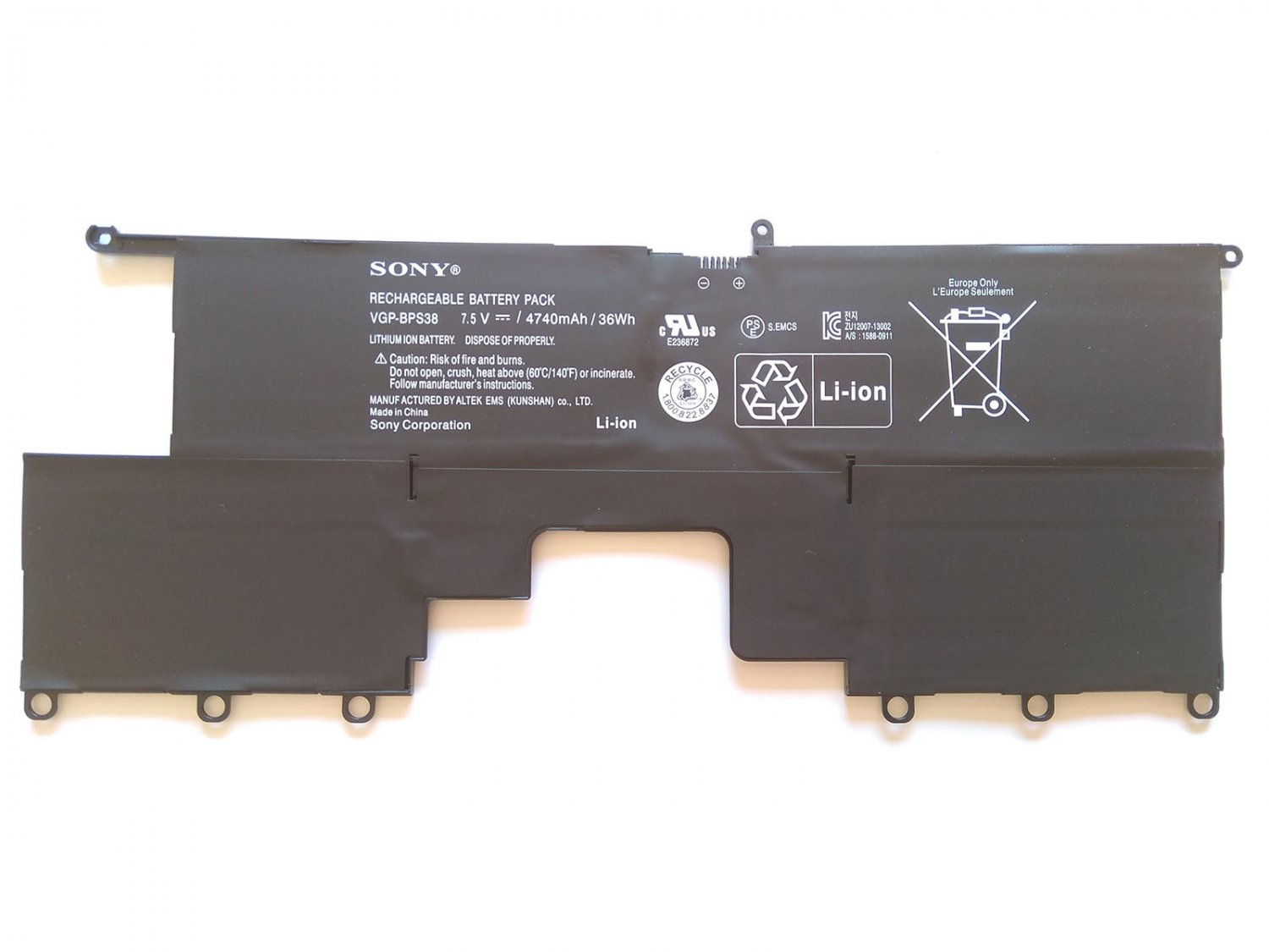 Battery VGP-BPS38 Replacement For Sony P132290SCB P132290X P1322BPXB Battery