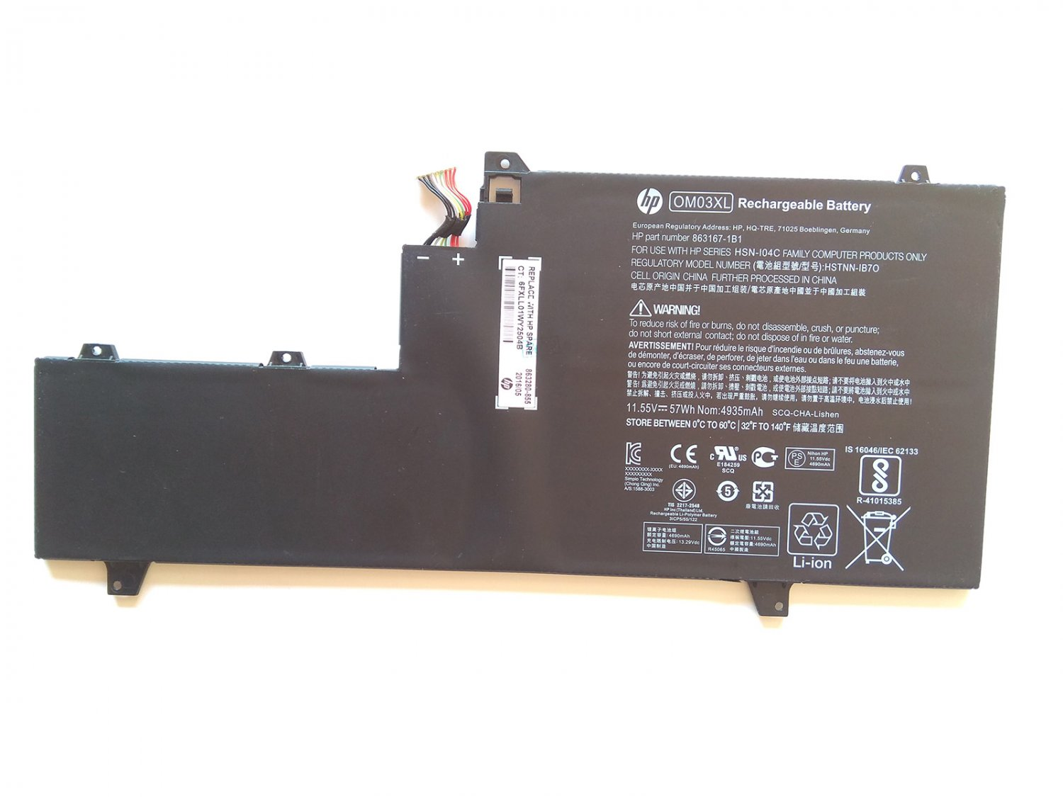 HP OM03XL Battery For HP EliteBook X360 1030 G2 1GY29PA 1GY30PA 1GY31PA