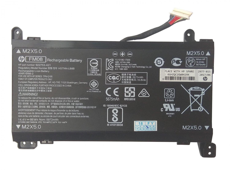 Genuine 922977-855 FM08 Battery 922752-421 For HP Omen 17-an052tx 17-an052ur