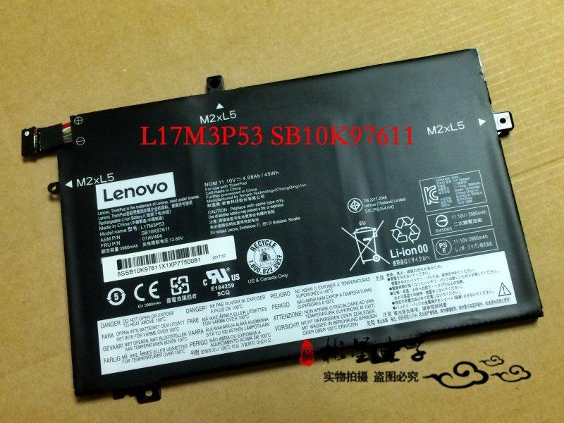 Lenovo L17M3P53 SB10K97611 01AV464 Battery For ThinkPad L480