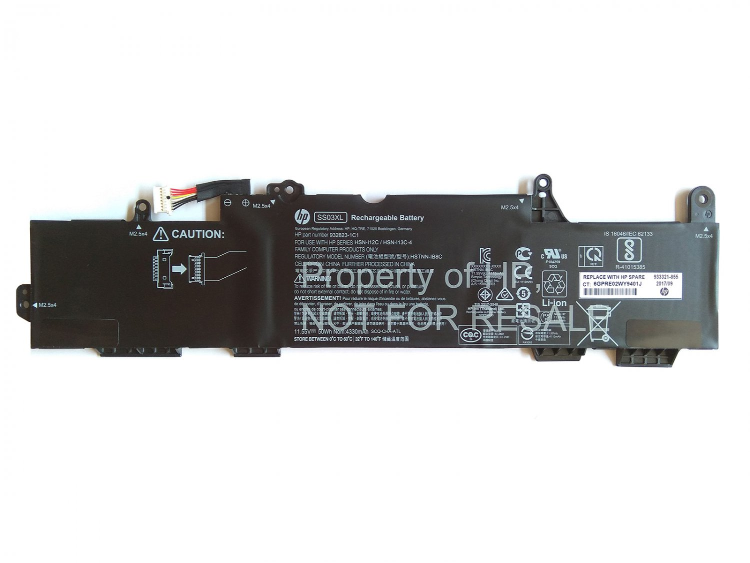 933321-855 HP SS03XL Battery HSTNN-IB8C HSTNN-LB8G 932823-1C1 932823-421