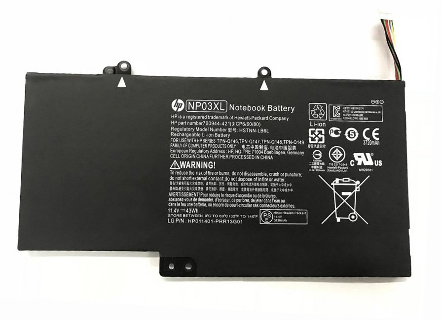 HP NP03XL Battery 760944-421 For Envy 15-U202NA 15-U202NE 15-U202NF 15-U202NI