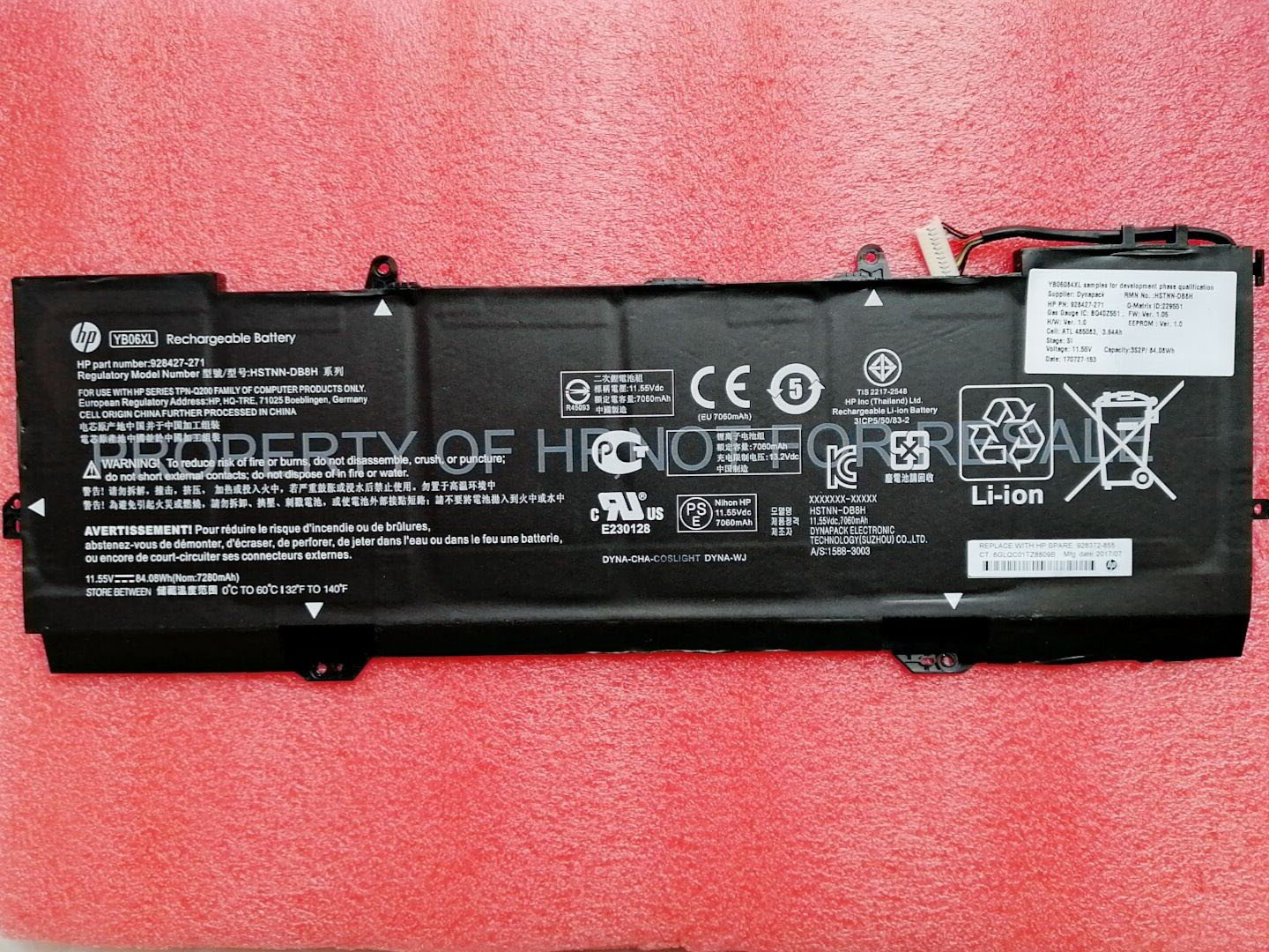 928427-271 HP YB06XL Battery For HP Spectre X360 15-CH009TX 15-CH010CA