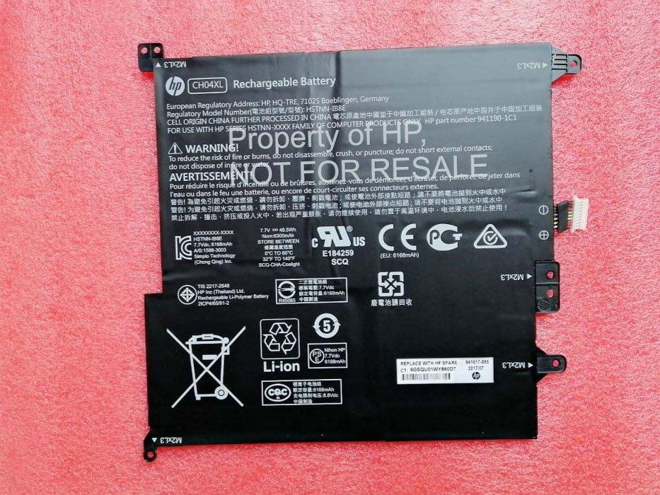 941617-855 HP CH04XL Battery HSTNN-IB8E For HP Chromebook X2 12-F000NA