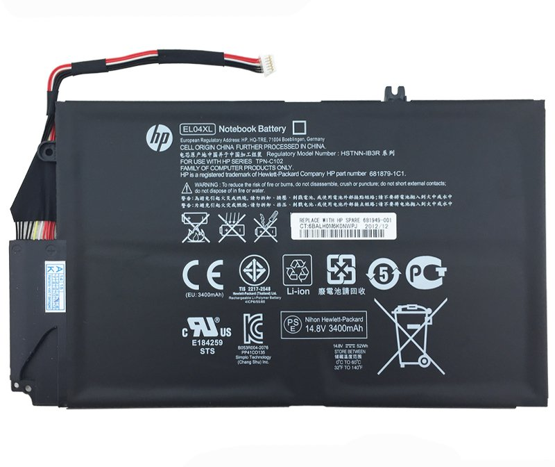 HSTNN-IB3R HP EL04XL Battery For HP Envy 4-1255ER 4-1256ER 4-1257ER