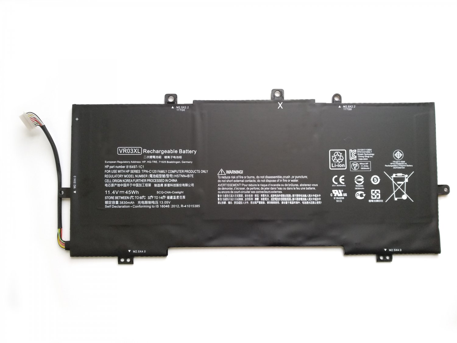VR03XL Battery 816497-1C1 For HP Envy Notebook 13-D058NA 13-D058SA 13-D058TU