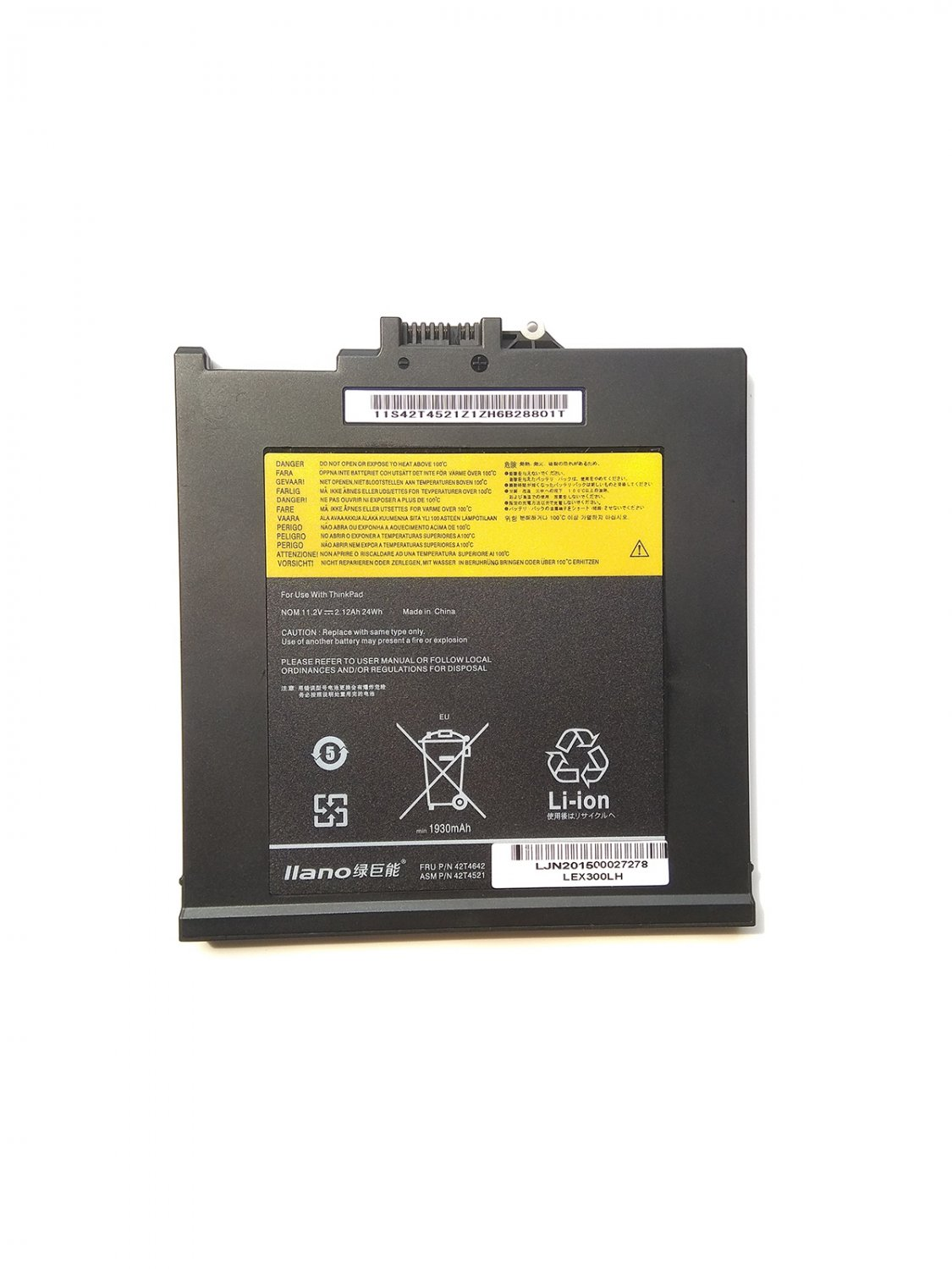 Lenovo 42T4521 42T4642 42T4520 43R1966 UltraBay Battery Replacement