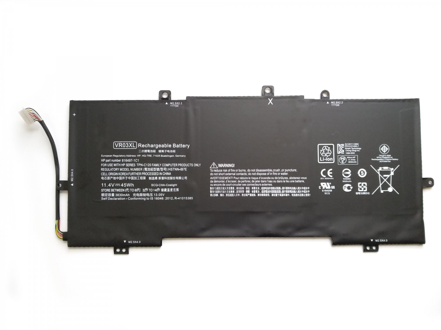 VR03XL Battery TPN-C120 For HP Envy Notebook 13-D070NB 13-D071NG 13-D080ND