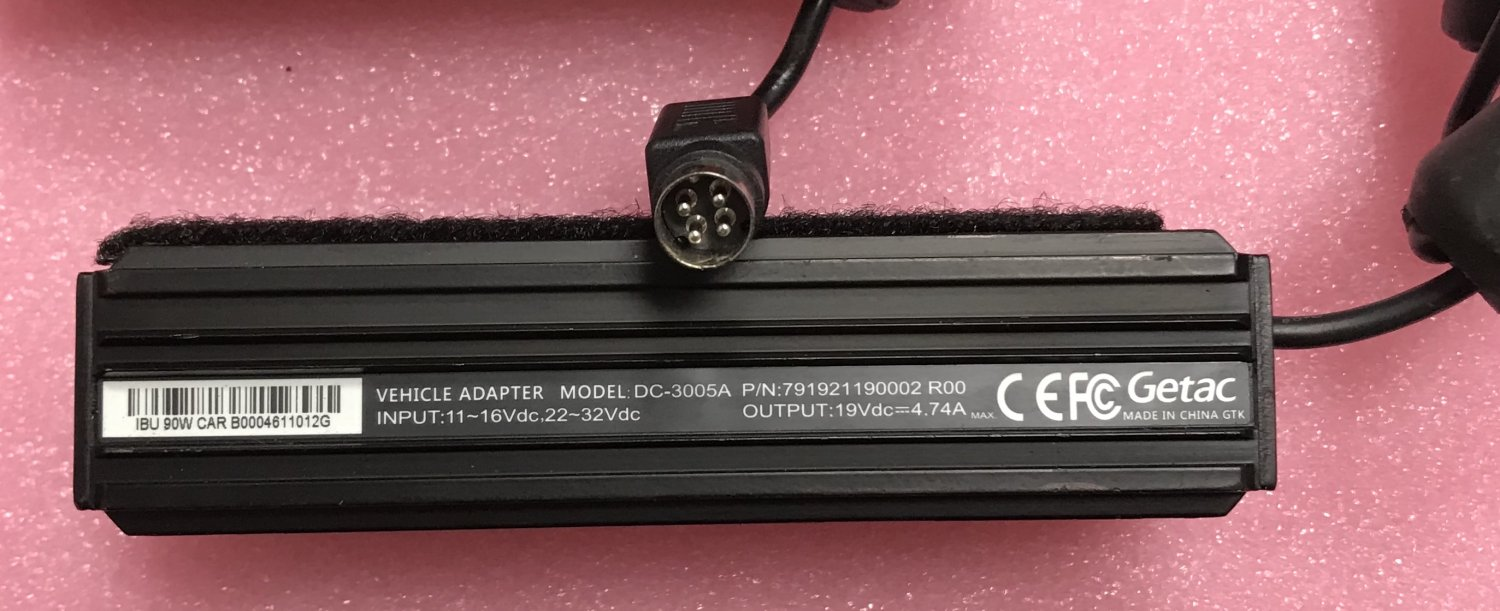 DC-3005A Getac Vehicle Adapter 791921190002 R00 19V 4.74A 90W AC Adapter