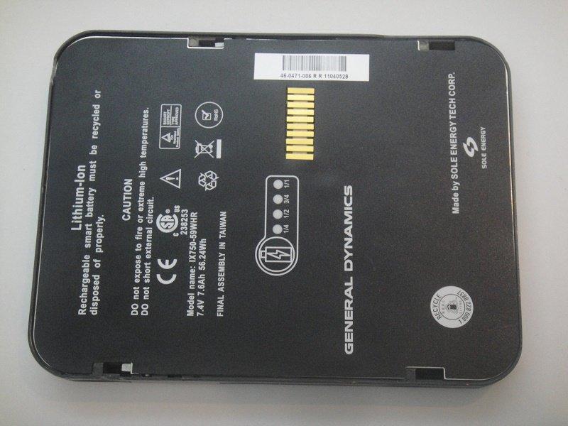 IX750-59WHR Battery For Itronix GoBook IX750 Series 7.4V 7600mAh 56.24Wh