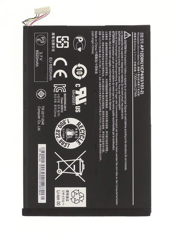 AP12D8K Battery For Acer Iconia Tab A3-A10 W510 W510P W501 W501P P3-171