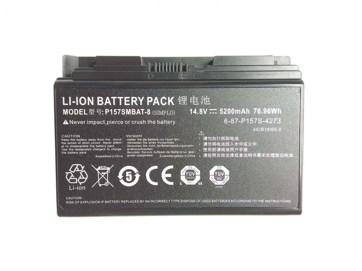 New Genuine P157SMBAT-8 battery For clevo X611 P157 p157S series XMG P704