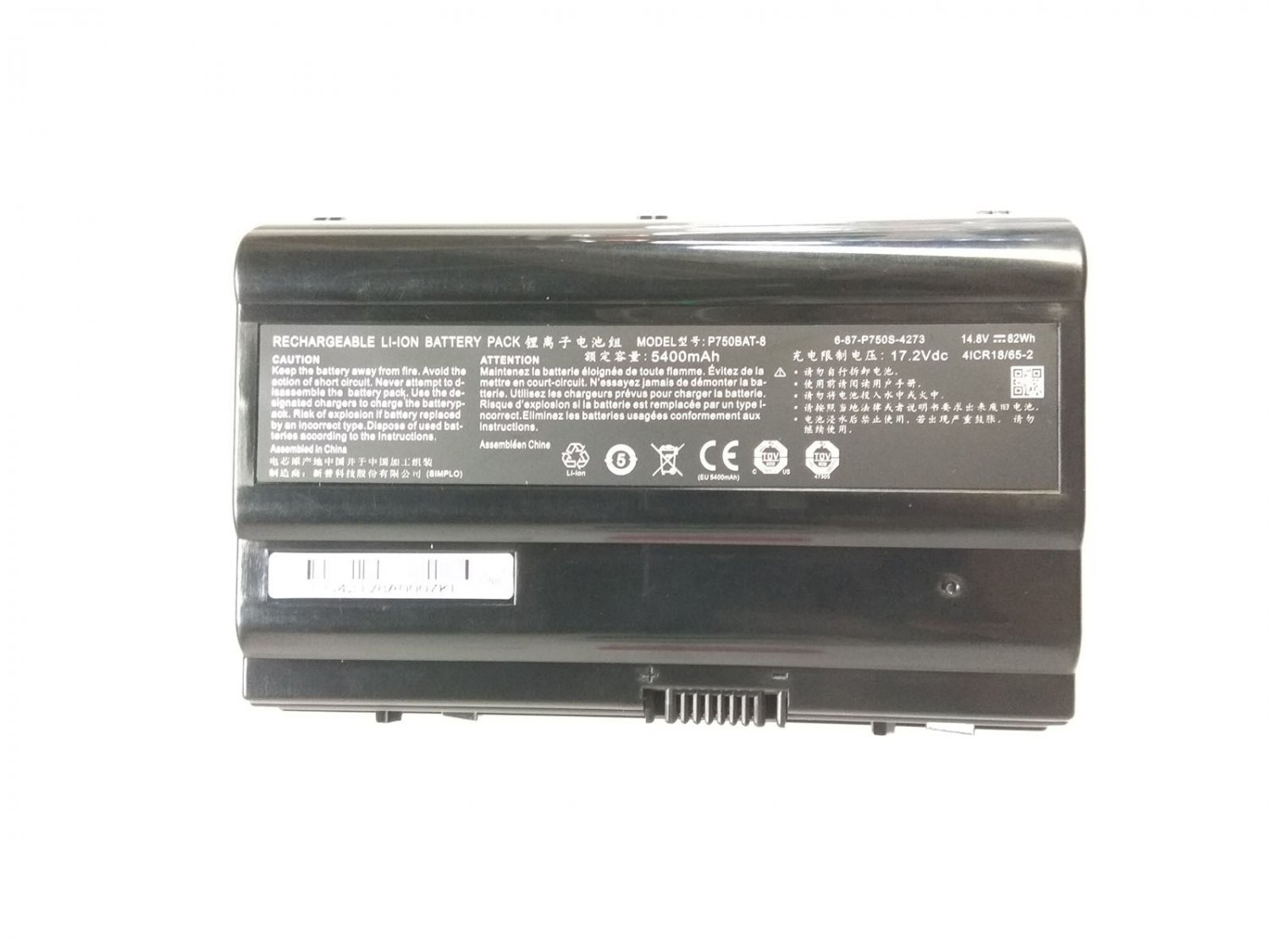6-87-P750S-4272 Battery 6-87-P750S-4U73 For Sager NP9772 NP9772-S NP9773 NP9752