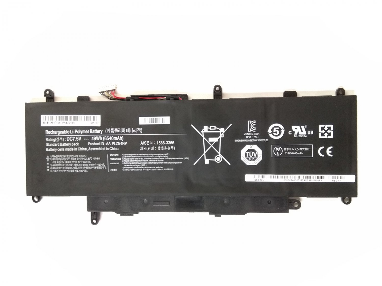 AA-PLZN4NP Battery For Samsung ATIV XE700T1C-G01DE XE700T1C-H01UK
