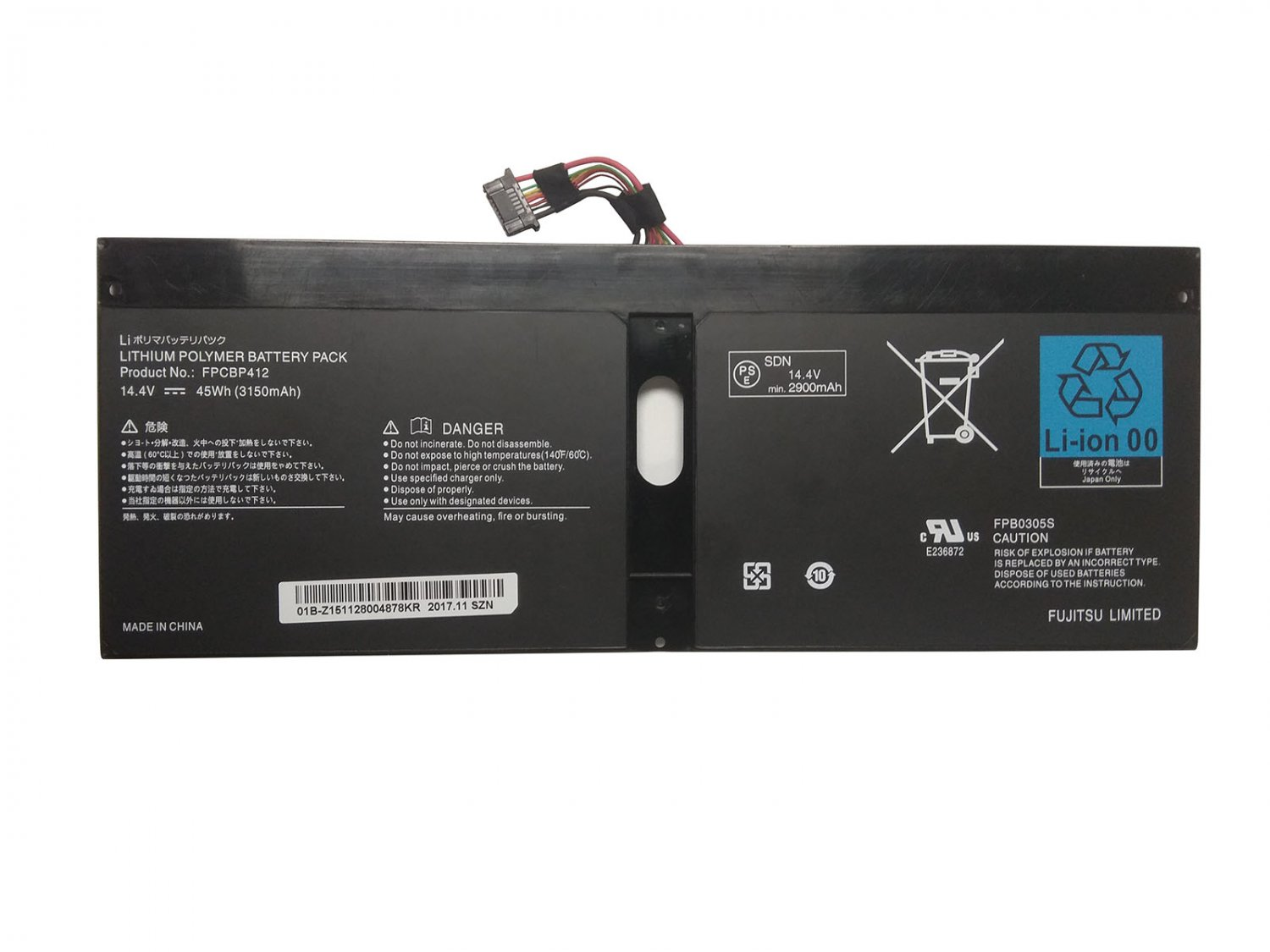 FPCBP412 Battery FPB0305S CP636960-01 For Fujitsu Lifebook U904