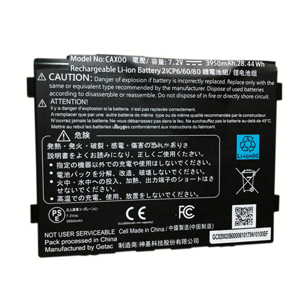 CAX00 Battery 7.2V 3950mAh 28.44Wh 2ICP6/60/80 CAXOO Rechargeable Li-ion Battery