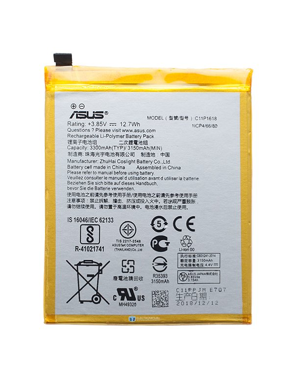 C11P1618 Battery 0B200-02610100 For Asus ZenFone 4 ZE554KL Z01KD