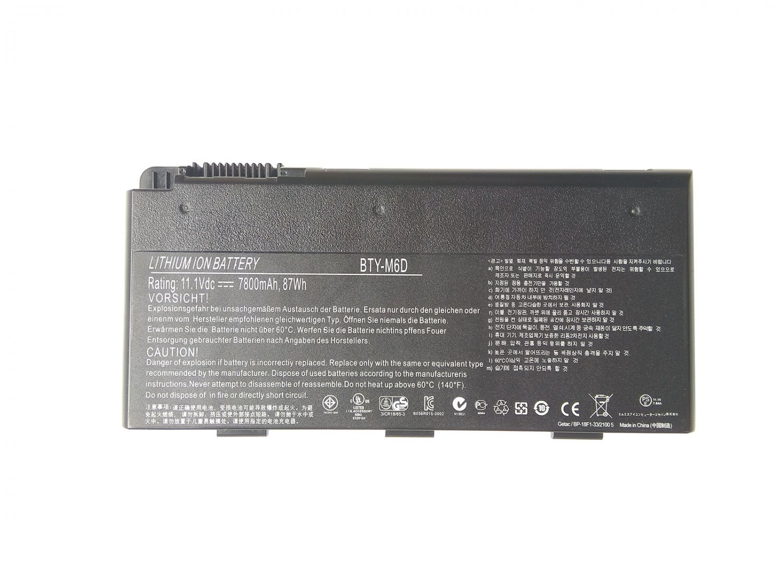 BTY-M6D Battery For MSI GT660R GT663R GT680DX GT683DXR GT760R GT780DXR GX660DXR