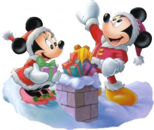 Minnie and Mickey Mouse Christmas Return Address Labels
