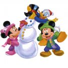 Minnie MIckey and Donald Christmas Return Address Labels