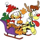 Garfield and Opie Christmas Return Address Labels