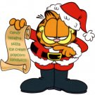 Garfield Christmas Return Address Labels