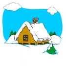 Winter Cabin Return Address Labels