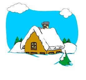 Winter Cabin Return Address Labels
