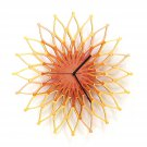 Fireworks II - large stylish wooden wall clock, sunburst clock, sunflower clock