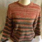 Express Jeans Ladies Woven Crochet Medium Knit Ski Winter Wool/Blend Sweater