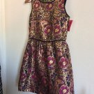 Girls Irrisdecent Metallic Brocade Target Floral Sleeveless Formal Dress NWT