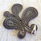 Vintage Ethnic Indonesian Paisley Beaded Penadant Hand Made Sterling Silver .925